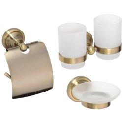 Seturi accesorii baie Set accesorii baie Bemeta Retro 3 piese, bronz