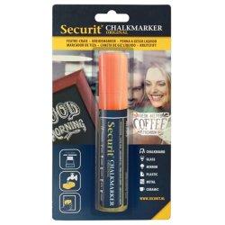 Accesorii table de scris Marker creta Securit Liquid Large 7-15mm, portocaliu