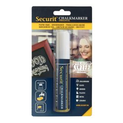 Accesorii table de scris Marker creta Securit Liquid Large 7-15mm, alb