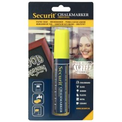 Table de scris & Accesorii Marker creta Securit Liquid Large 7-15mm, galben