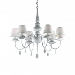 Candelabre & Lustre Lustra Ideal Lux Blanche SP6, 6x40W, 75x80-120cm, alb