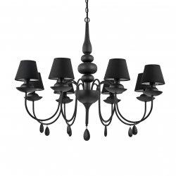 Candelabre & Lustre Lustra Ideal Lux Blanche SP8, 8x40W, 82x90-140cm, negru