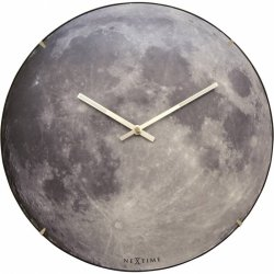 Decoratiuni  Ceas de perete NeXtime Blue Moon Dome 35cm