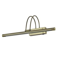 Iluminat baie Aplica Ideal Lux Bow AP66 LED, 66x0.07W, 46x18cm, bronz