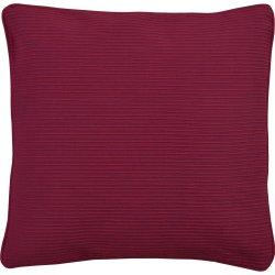 Textile decorative Husa perna Sander Basics Breeze 40x40cm, bumbac 100%, 26 Burgundy
