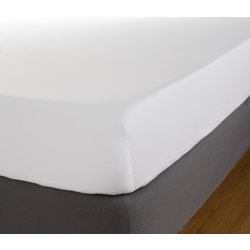 Lenjerii de pat Cearceaf de pat cu elastic Behrens Egiptian 400TC, 180x200cm, alb