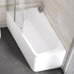 Cada baie asimetrica Ravak Concept 10° 170x100cm, acril, orientare stanga