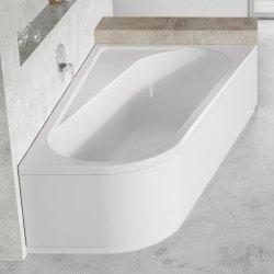 Panou frontal pentru cada  Ravak Concept Chrome 170x105cm, dreapta, alb