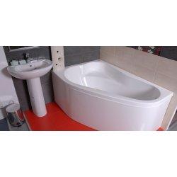Cada baie asimetrica Belform Mistika 150x100cm, acril, orientare stanga