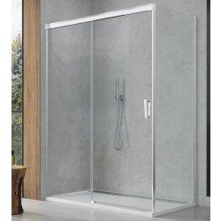Perete lateral fix Sanswiss Cadura CAST 100cm, sticla securizata transparenta, profil slefuit lucios