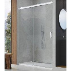 Usa de dus culisanta Sanswiss Cadura 140cm stanga, sticla securizata transparenta, profil slefuit lucios