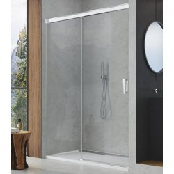 Usa de dus culisanta Sanswiss Cadura 160cm stanga, sticla securizata transparenta, profil slefuit lucios