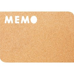 Table de scris & Accesorii Panou de pluta Securit Silhouette Memo 28.4x41.2x0.5cm, maro