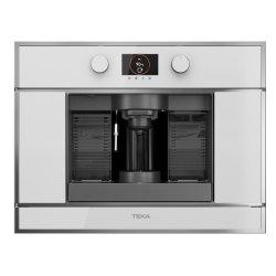 Electrocasnice mari Espressor cu capsule incorporabil Teka CLC 835 MC WH, 5 adaptoare capsule, pad-uri si cafea macinata, pompa 19 bari, inox anti- pata/cristal alb