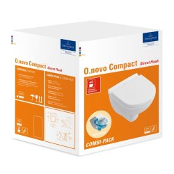 Default Category SensoDays Set vas WC suspendat Villeroy & Boch O.Novo 49x36cm Directflush si capac cu Inchidere lenta