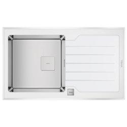 Default Category SensoDays Chiuveta bucatarie Teka Premium RS15 1B 1D 86, 860x510cm, inox + sticla alba