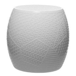Canapele & Fotolii Taburet Kartell Roy design Alessandro Mendini, h43cm, d45cm, alb