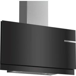 Hote Hota decorativa Bosch DWF97KM60 Serie 6, 90cm, design plat, 3 trepte + Intensiv, 739 m³/h Intensiv, sticla neagra
