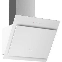 Produse Noi Hota decorativa Bosch DWK67CM20 Serie 4, 60cm, design inclinat, 3 trepte + Intensiv, 700 m³/h Intensiv, RimVentilation, sticla alba