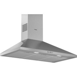 Electrocasnice mari Hota decorativa Bosch DWP96BC50 Serie 2, 90cm, design piramidal, 3 trepte, 626 m³/h max, inox