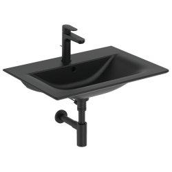 Lavoar Ideal Standard Connect Air 64x46cm, montare pe mobilier, negru mat