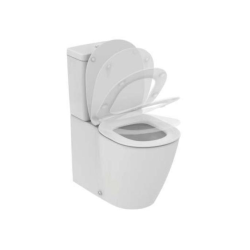 Seturi vase WC Set complet vas WC Ideal Standard Connect AquaBlade back-to-wall cu rezervor asezat alimentare la baza si capac inchidere lenta