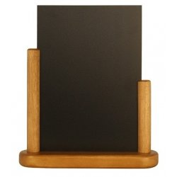 Default Category SensoDays Tabla de scris Securit Elegant 23,3x20x6cm cu rama de lemn, teak