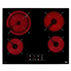 Electrocasnice mari Plita vitroceramica incorporabila Teka TT 6420 cu 4 zone, 60 cm, rama metalica slim, negru