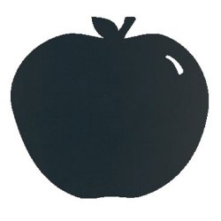 Default Category SensoDays Tabla de scris autoadeziva Securit Silhouette Apple 31,6x29,1x0,3cm, include marker creta, negru