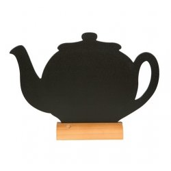 Default Category SensoDays Tabla de scris Securit Silhouette Teapot 24x25,3x6cm, baza de lemn, include marker creta, negru