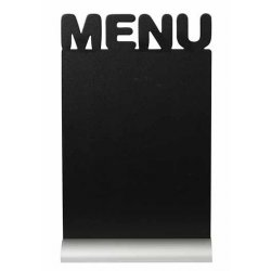 Default Category SensoDays Tabla de scris Securit Silhouette Menu 34,2x21x6cm, baza aluminiu, include marker creta, negru