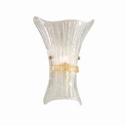Aplice de perete & Plafoniere Aplica Ideal Lux Fiocco AP1 Big, 1x60W, 28x38cm, chihlimbar