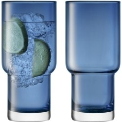 Pahare & Cupe Set 2 pahare LSA International Utility Highball 390ml Sapphire