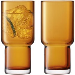 Pahare & Cupe Set 2 pahare LSA International Utility Highball 390ml Amber