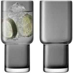 Pahare & Cupe Set 2 pahare LSA International Utility Highball 390ml Slate