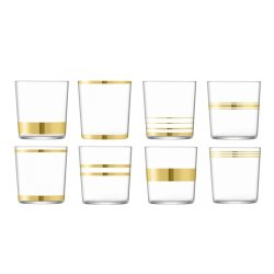Default Category SensoDays Set 8 pahare LSA International Deco Tumbler Gold 390ml