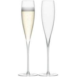 Pahare & Cupe Set 2 pahare LSA International Savoy Champagne Flute 200ml