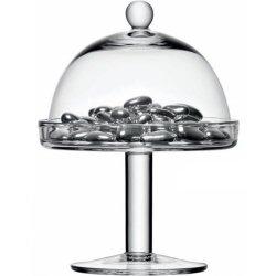 Cadouri Craciun & Decoratiuni Platou sticla cu picior si capac LSA International Vienna 15cm, h20.5cm