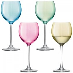 Default Category SensoDays Set 4 pahare vin LSA International Polka Pastel 400ml