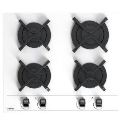 Plite incorporabile Plita gaz incorporabila Teka GBC 64001 cu 4 arzatoare, 60cm, gratare fonta, Cristal alb