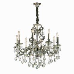 Candelabre & Lustre Lustra Ideal Lux Gioconda SP8, 8x40W, 73x95-120cm, argintiu
