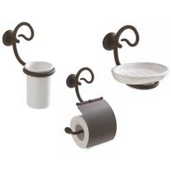 Default Category SensoDays Set accesorii baie Globo Paestum 3 piese, metal antichizat