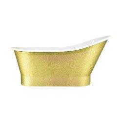 Cazi de baie Cada freestanding Besco Gloria Glam 160x68cm, Gold