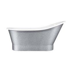 Default Category SensoDays Cada freestanding Besco Gloria Glam 160x68cm, Silver