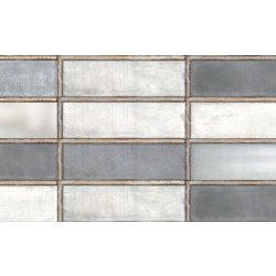 Placari & Pardoseli Faianta Diesel living Industrial Glass 10x30cm, 7mm, Grey