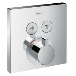 Baterie dus termostatata Hansgrohe ShowerSelect cu 2 functii, montaj incastrat, necesita corp ingropat