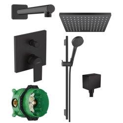 Default Category SensoDays Sistem de dus incastrat Hansgrohe Vernis Shape negru mat cu 2 consumatori