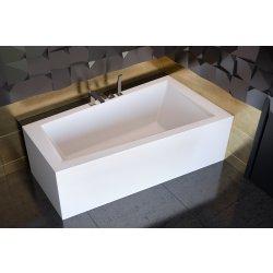 Cada baie asimetrica Besco Intima 160x90cm, acril, orientare dreapta