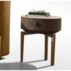 Default Category SensoDays Noptiera Gamma Dandy K009-A, top Terra Ceramic, piele Burt F614, picioare lemn Noce Canaletto, HandMade in Italy