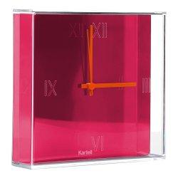 Default Category SensoDays Ceas Kartell Tic&Tac design Philippe Starck & Eugeni Quitllet, 30x30cm, roz fucsia metalizat